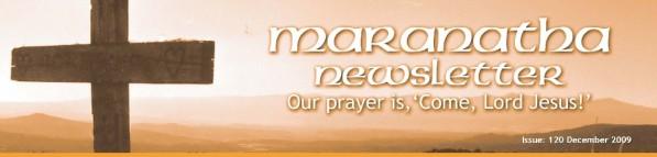 Maranatha Newsletter Dec 09