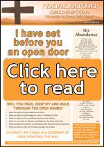 Maranatha Newsletter - click here read